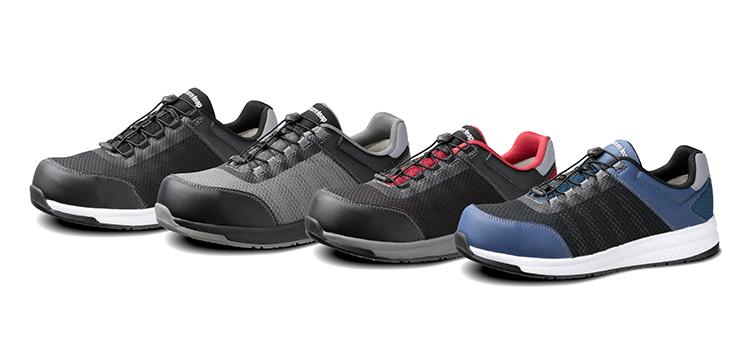 高反発クッションソール採用の安全作業靴