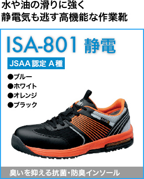 超耐滑底に静電機能も付いた靴底ISA-801静電